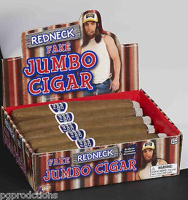 1 REDNECK GIANT JUMBO FAKE CIGAR Gag Joke Hobo Costume Prop Realistic Prank - Toy Props