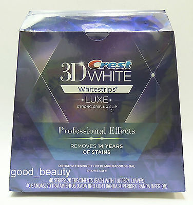 Crest 3D White Luxe Whitestrips Whitening Professional Effects 40strips 20 Pouch on Rummage