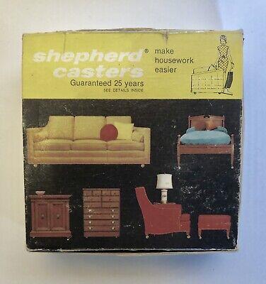 Set 4 Vintage 1969 Shepherd Furniture Wheels Brass Ball Casters 1 12in Mib Nib