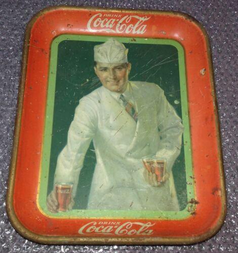"Coca-Cola Antique Original 1927 ""Soda Jerk""Serving Tray American Art Works"