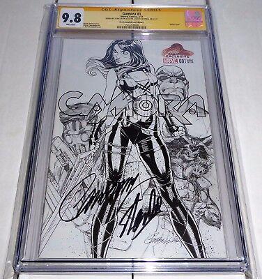 Gamora #1 Dual Signature Autograph STAN LEE CHRIS CAMPBELL Variant Edition Sketc