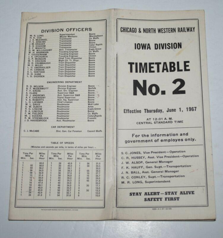 1967 Chicago & North Western Iowa Div ETT #2