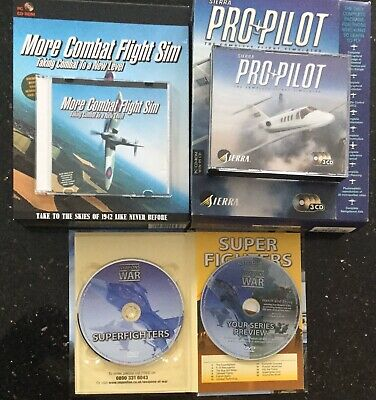 Usado, PRO PILOT Flight Simulator PC CD ROM 1998 Sierra 3 Discs, More Combat Flight Sim segunda mano  Embacar hacia Mexico