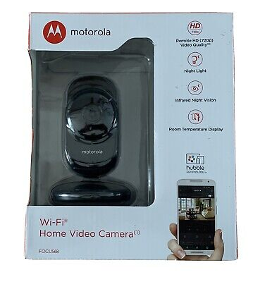 Motorola Wi-Fi Home Security Camera Focus68 -720p HD BLACK Brand New