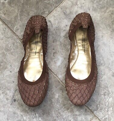 Kennel und Schmenger Brown & Gold Flats UK Size 8 - Ballet Pumps