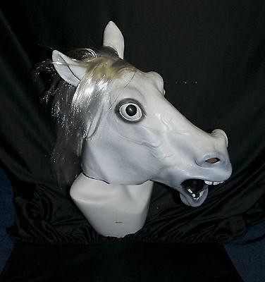 Voller Kopf Pferd Maske Latex Halloween Kostüm Geburt Kostüm Gummi Tier