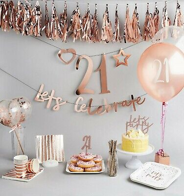 Create Birthday Banner (Rose Gold Create Your Own Banner - Backdrop, Bunting, Birthday Party,)