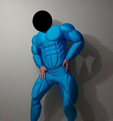 Spandex Musclesuit skeletor super man muscle costume suit halloween anime hero