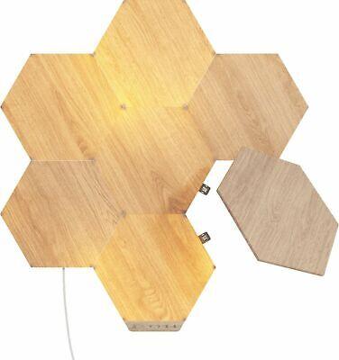 Nanoleaf Elements Wood Look Smarter Kit Light Panels - 7 Panels