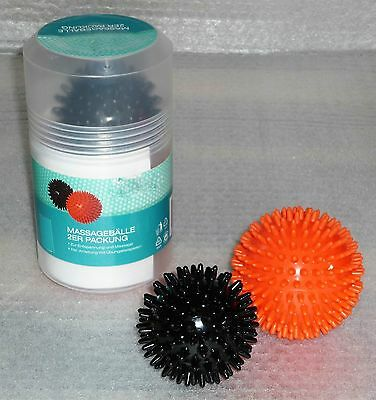Massagebälle 2er Set Therapieball Massagekugeln Noppenball Massageball Igelball