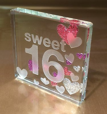 Sweet 16 Birthday Gift Ideas (Happy 16th Birthday Gift Ideas Spaceform Sweet Sixteen Glass Token Keepsake)