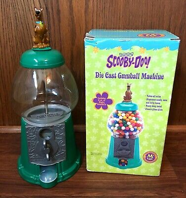 """Scooby Doo Vintage 14"""" Gumball Machine Diecast Metal Glass Coin Operated New NIB"""