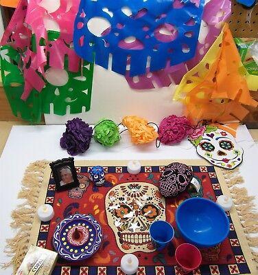 Day Of The Dead Items (Day of the Dead Altar Kit 7 Dia De Los Muertos Ofrenda Items Shrine)