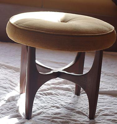 G-Plan mid century solid teak dressing table stool