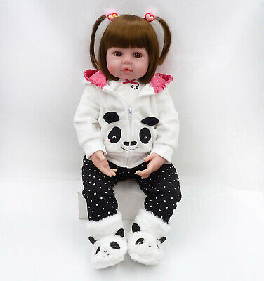 Fast Real Life Toddler Reborn Dolls Lifelike Baby Soft Silicone Girl Toy Gifts