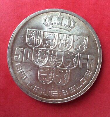 Belgique - Magnifique monnaie  de  50  Francs 1940 FR pos.B