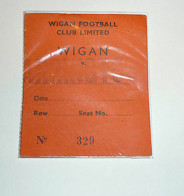 WIGAN v WARRINGTON 15th AUGUST 1982 LOCKER CUP TICKET