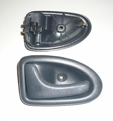 Set 4x inside Door Handle Front Rear LR Silver Black for Renault Megane I A0//1