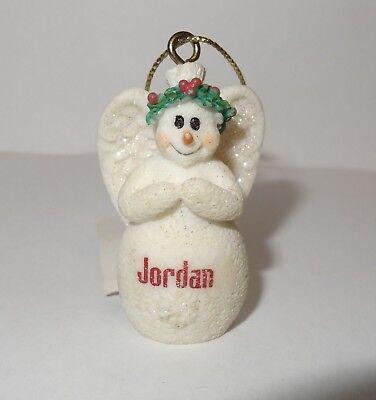Snowman Angel Wings Christmas Ornament Ganz Personalized Name Cute New Xmas JB](Snowman Ornament)