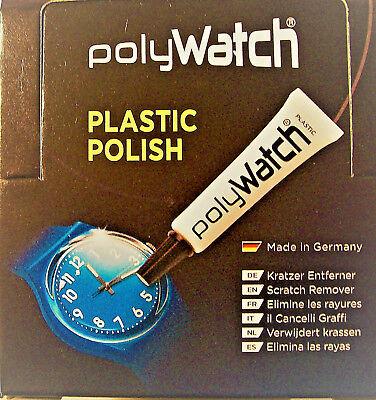 POLYWATCH PLASTIC POLISH WATCH GLASS RESTORER SWATCH FOSSIL ETC UK SELLER