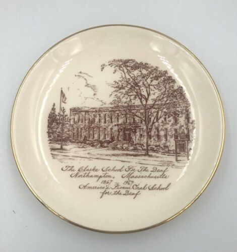 Clarke School of the Deaf Anniversary Commemorative Souvenir Plate1867-1967