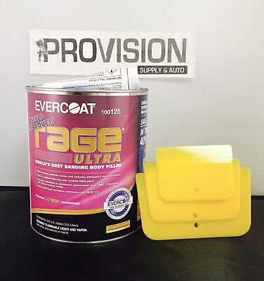 EVERCOAT 125 RAGE ULTRA WORLD'S BEST SANDING BODY FILLER (0.8 GALLON)W
