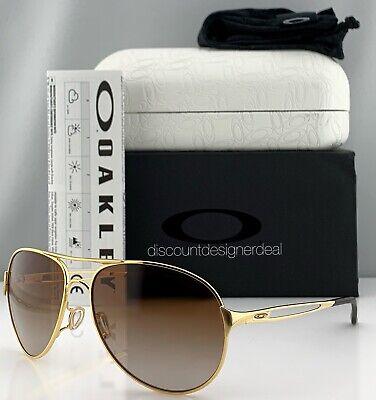 Oakley Caveat Aviator Sunglasses OO4054-07 Gold Metal Frame Brown Gradient (Aviator Oakley)