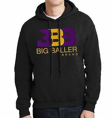 Bbb   Mens Black Hoodie   Purple   Gold   Los Angeles Showtime Lake Show