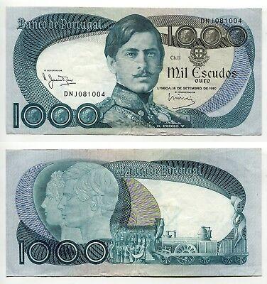 1000 Escudos Portugal 16.9.1980, Erhaltung III   P.175b