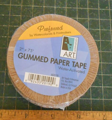 Gummed Paper Tape. Art Supply. Water Color. Printmakers. Framing Water Activated