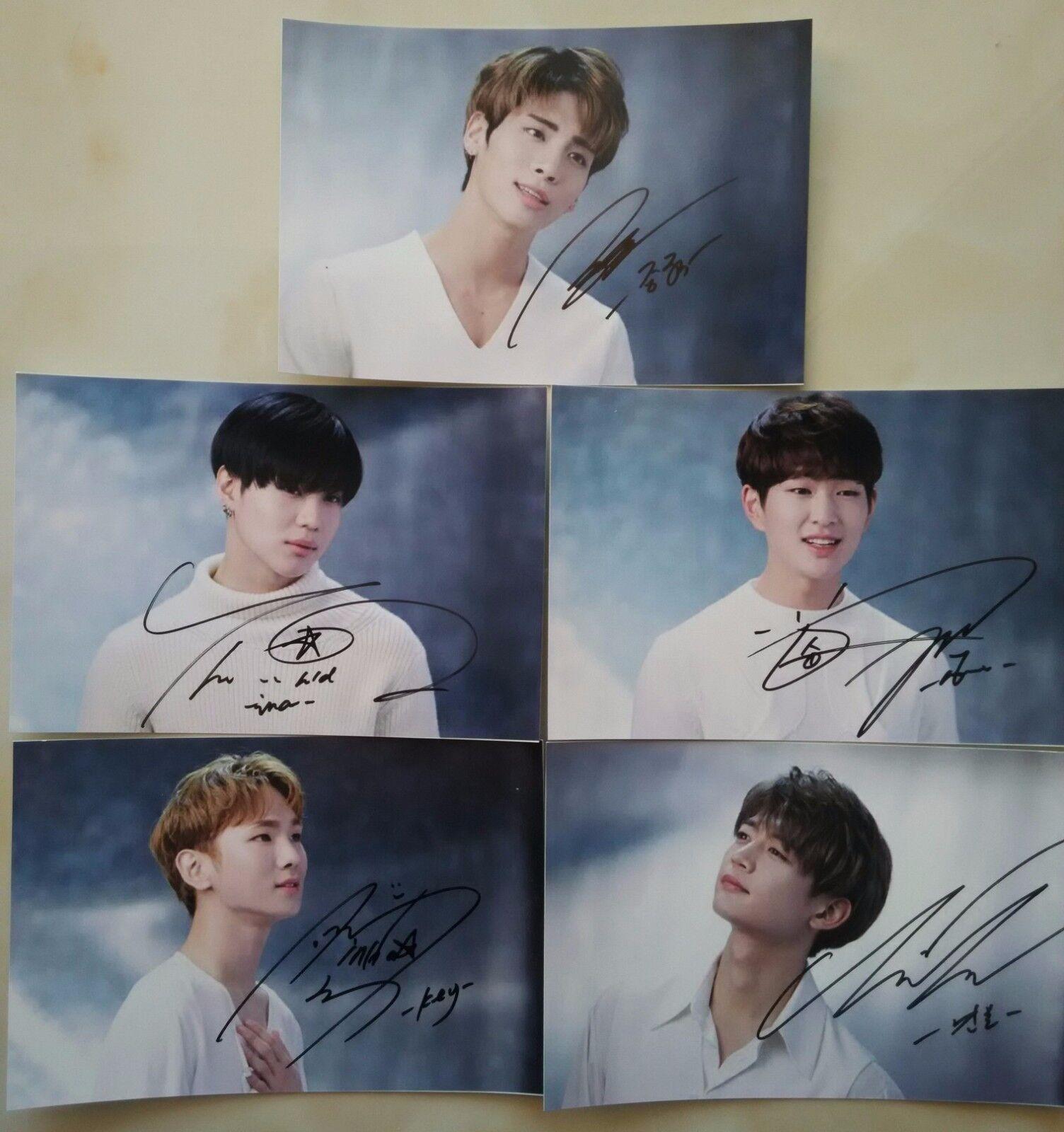Купить Signed SHINee JongHyun Taemin KEY all5member Hand Autograph Photo SET