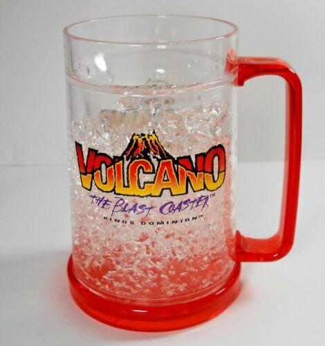 Volcano Kings Dominion Retired Rollercoaster Plastic Cup Rare Beer Mug PLS READ