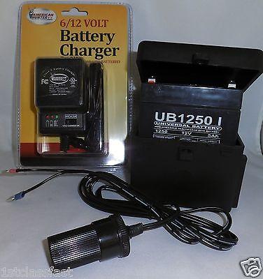 12Volt Rechargeable Portable Battery Power Pack 12V Dc Charger   Lighter Socket