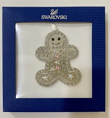 Swarovski Crystal Christmas Ornament Gingerbread Man 2014