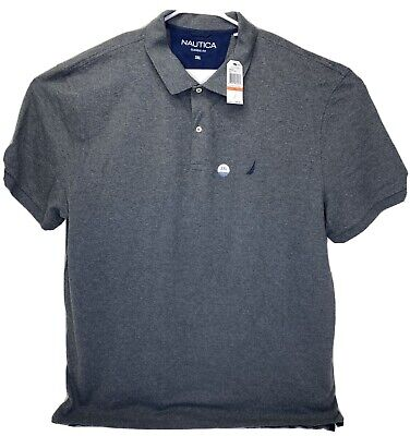 Nautica Performance Deck Polo Shirt Dark Gray Classic Fit Men's 3XL MSRP $49.50