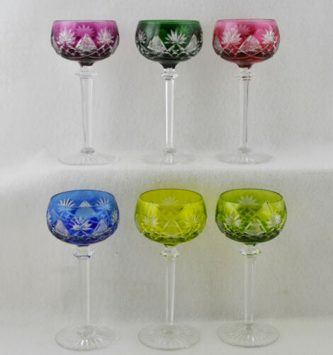 "Val St Lambert Berncastel Wine Hock SELECT CHOICE of Color (7 1/8"" Tall)"