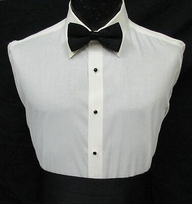 Ivory Off-White Bone Laydown Collar Formal Tuxedo Dress Shirt *Choose -