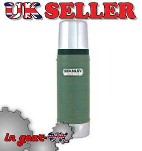 STANLEY GREEN 0.5 LITRE DRINK WORK FLASK STAINLESS STEEL classic small thermos