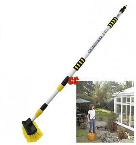 Window Cleaning Brush Extendable Hose Fed Telescopic