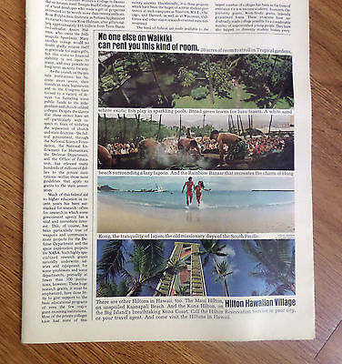 1972 Hilton Hawaiian Village Hotels Hawaii Ad