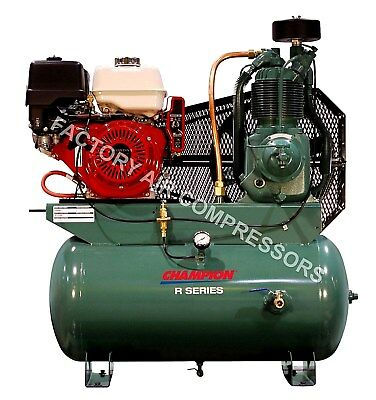 Champion Hgr7-3h 13hp Honda Gas Drive Air Compressor For Service Truck 30 Gallon