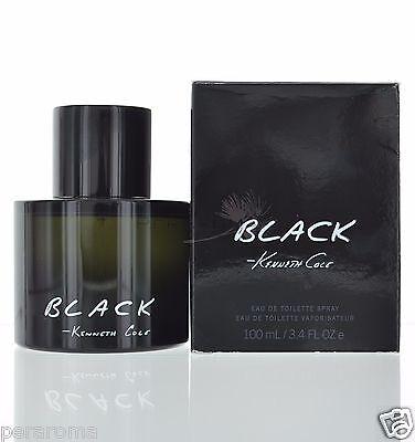 Kenneth Cole Black for Men Eau De Toilette 3.4 oz 100 ml Spray