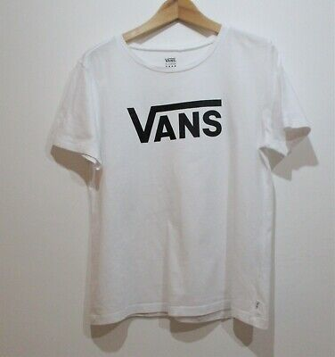 VANS BOYS EXTRA LARGE BLACK LOGO COTTON T SHIRT  SKATERBOY CASUAL FOOTBALL