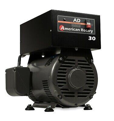 Rotary Phase Converter Ad30f - Floor Unit 30hp Digital Controls Heavy Duty Cnc