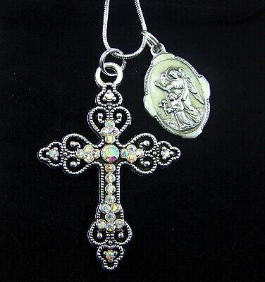 Guardian Angel 10 Piece with Star Pink 3,2cm Beaded Angel Wedding Baptism Pendant
