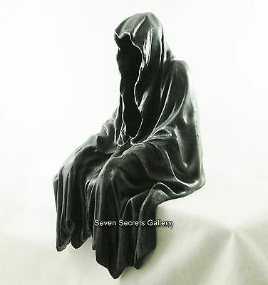 Grim Reaper Shelf Sitting Figurine Ornament Darkness Resides Gothic Pagan Occult