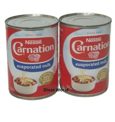 Nestle Carnation Evaporated Milk Pack Of 2 x 410 EXP 2020 Brand New