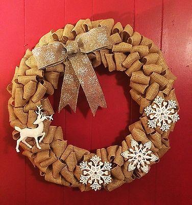(Reindeer Snowflake Christmas Wreath 26