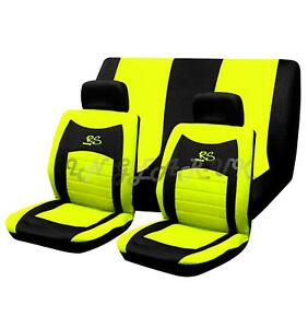 yellow car seat covers ebay. Black Bedroom Furniture Sets. Home Design Ideas
