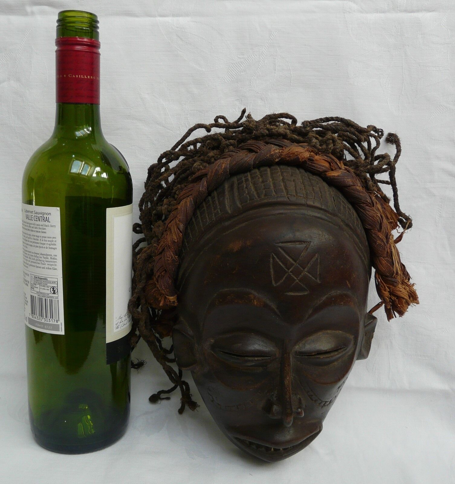 Chokwe Mwana Pwo Angola Congo Headdress Authentic African Tribal Art Mask